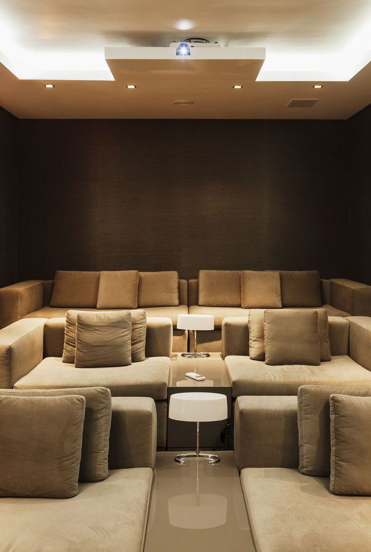 This Home Theater Is Ridiculously Luxe (and Were Here for it)