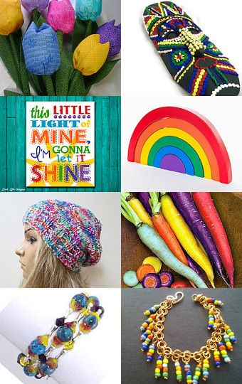 Chasing Rainbows ~ Colorful Gift Ideas~ BFW Treasury by Kathy Carroll on Etsy--Pinned with TreasuryPin.com