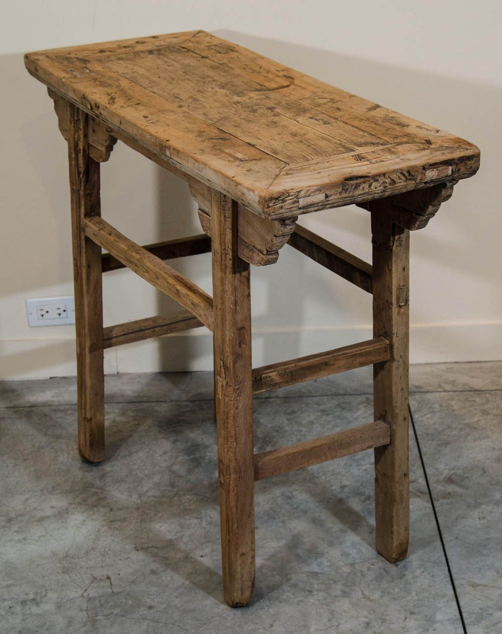Small Provincial Table | From a unique collection of antique and modern console tables at https://www.1stdibs.com/furniture/tables/console-tables/