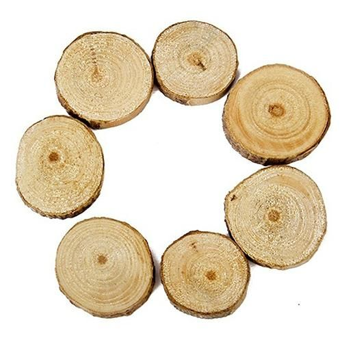 Photo of 100 Pcs Wood Log Slices Mini Wooden Discs for DIY Crafts Room Wedding Decor – as the picture c