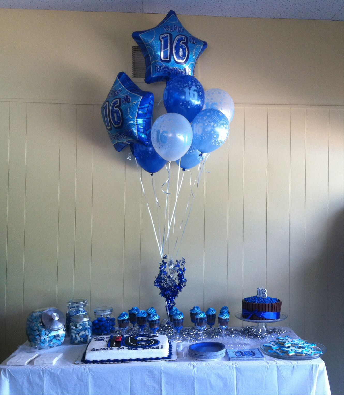 Aaron S Birthday Party 16th Birthday Decorations 16th Birthday Party Boy Birthday Decorations