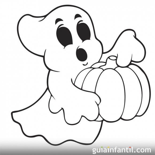 Dibujo De Fantasma Para Imprimir Y Pintar Dibujos De Halloween Fantasmas De Halloween Siluetas De Halloween