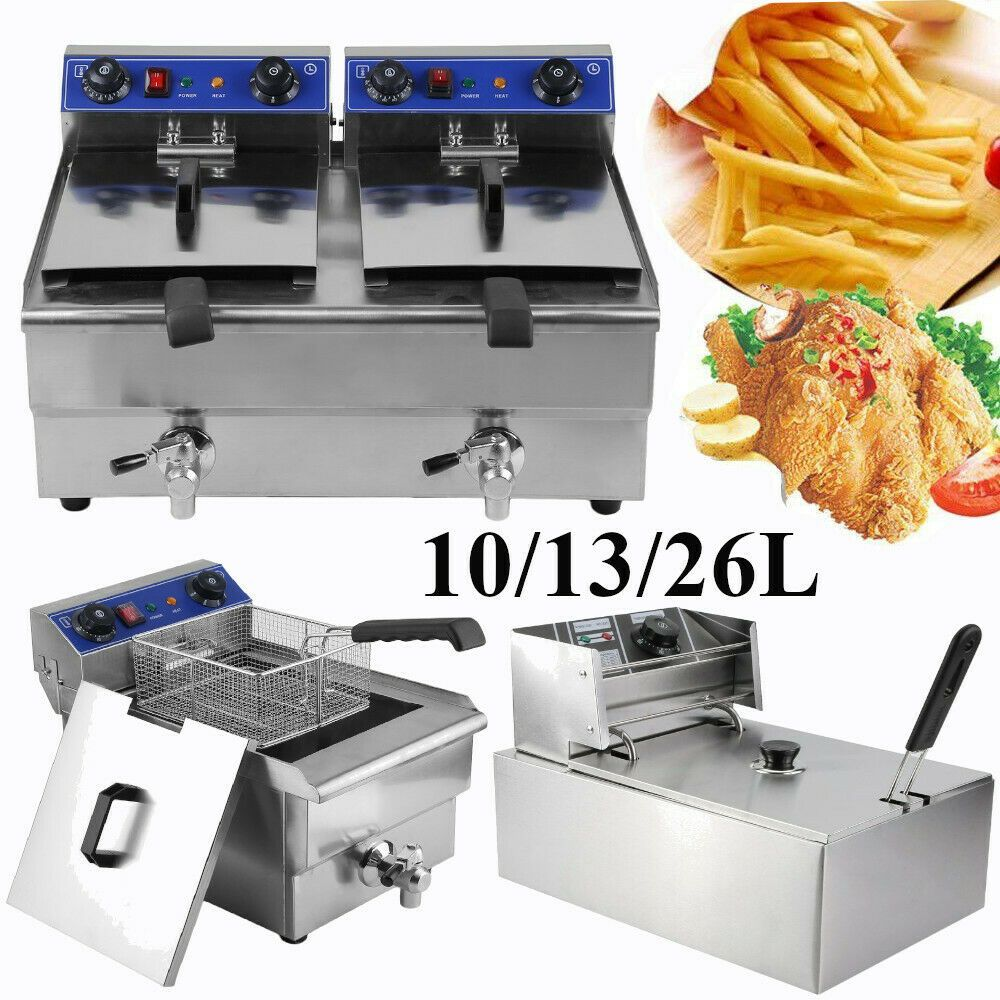 Electric Countertop Deep Fryer Tank Commercial Restaurant