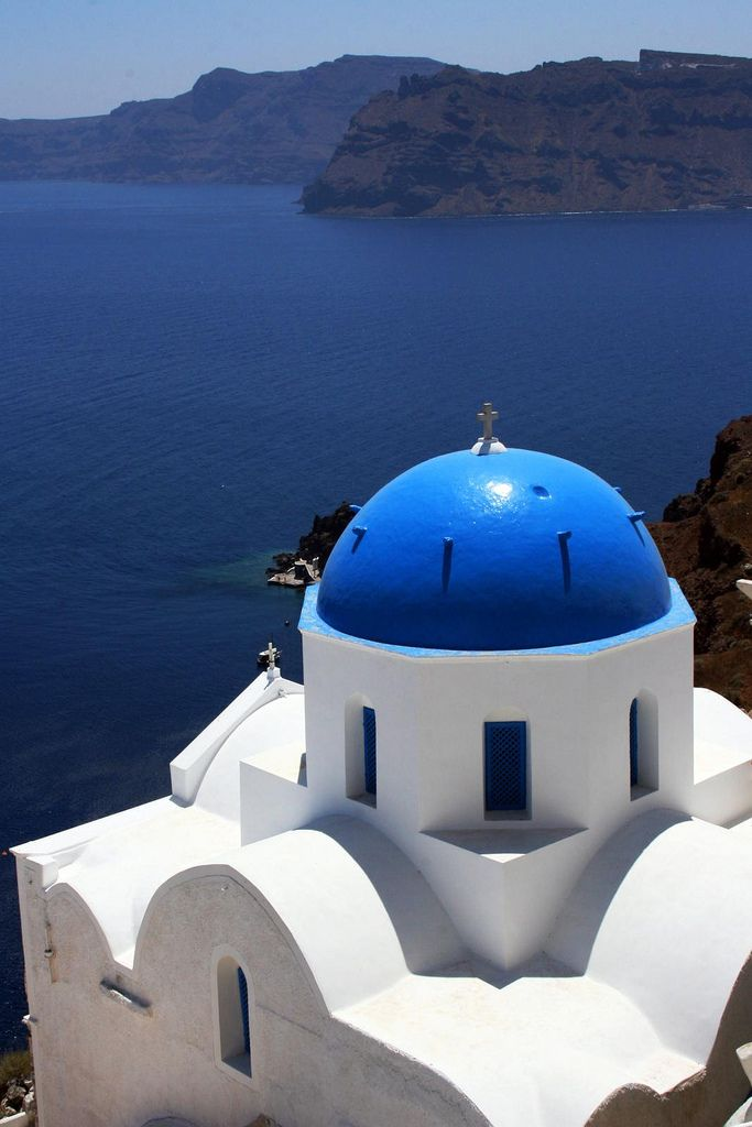 Santorini, Greece - Baby Boomers in Europe: Cruise Ships vs Land Travel - Click two times on photo to read article by Christina Gregoire