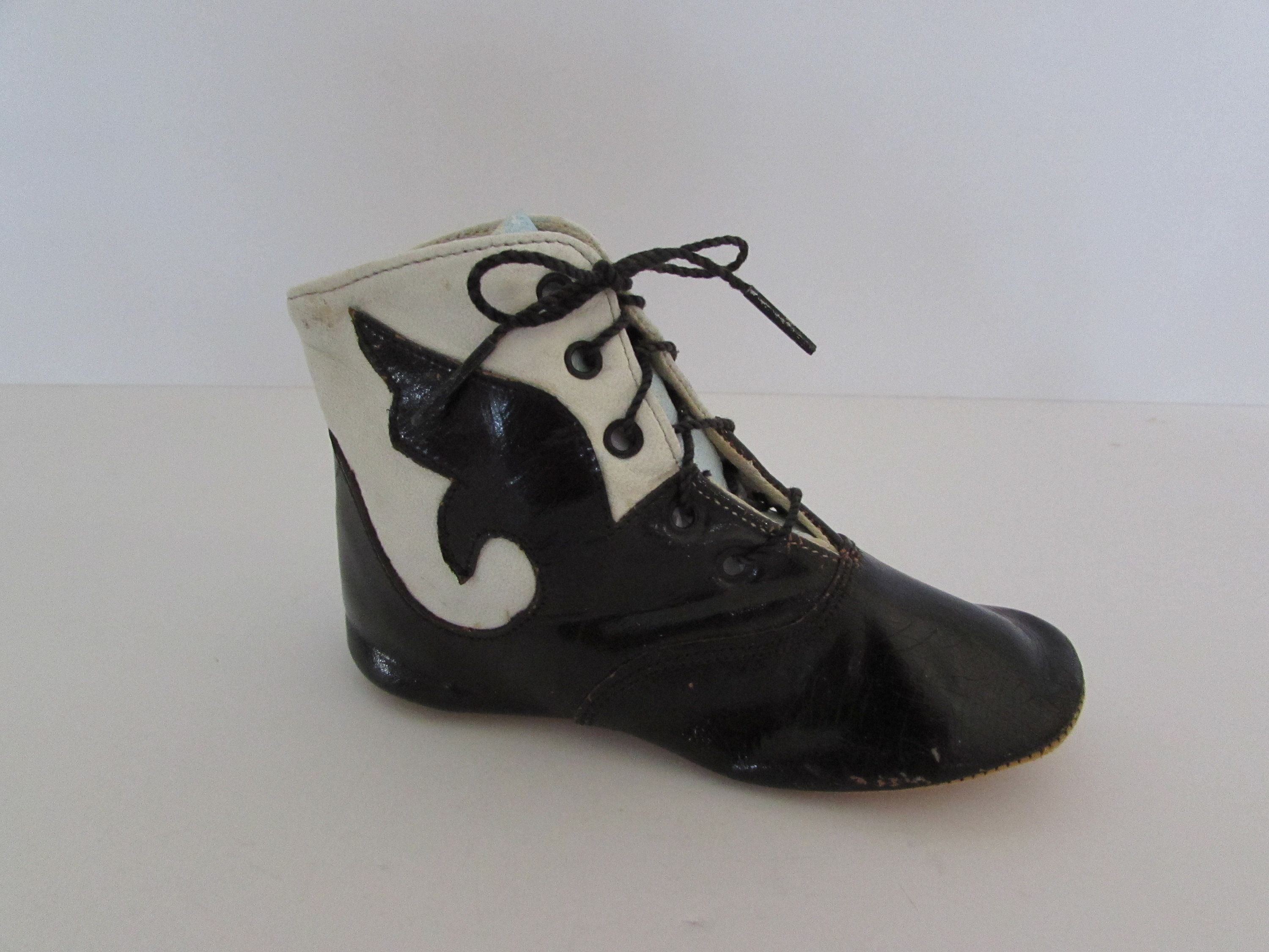 a131552dbd4ba Vintage Baby Shoe, One Leather Vintage Baby Boot, Leather Baby Shoe ...