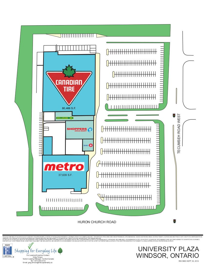University Plaza shopping plan Ontario city, Plaza