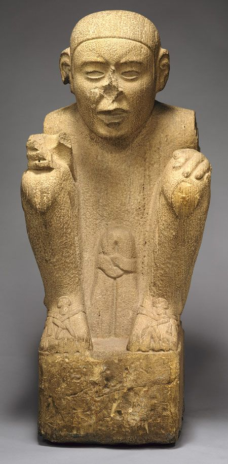 Standard Bearer, 15th–early 16th century Mexico; Aztec Sandstone MET
