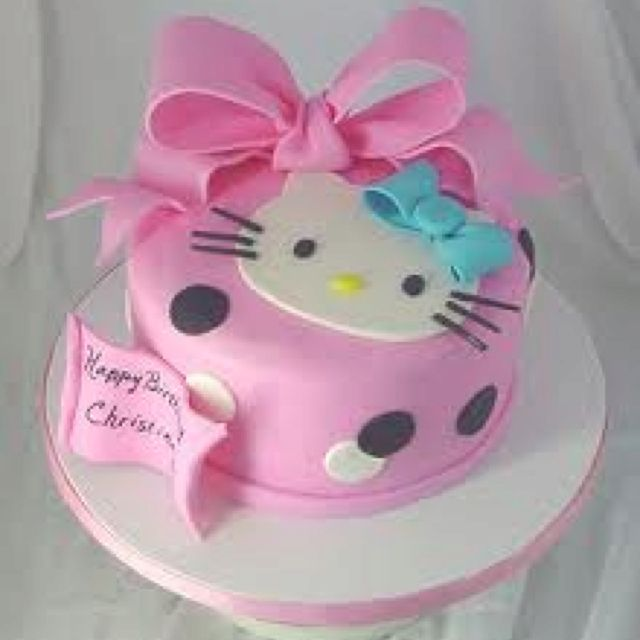 Its a hello kitty CAKE Very Cute Hello Kitty things