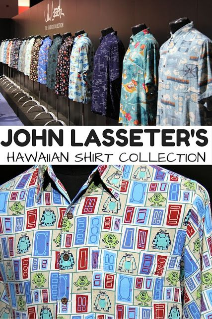 b7979ff9 John Lasseter's Hawaiian Shirt Collection: As Awesome As It Sounds! You  will love this 20 shirt collection from the head of #Disney #Pixar.