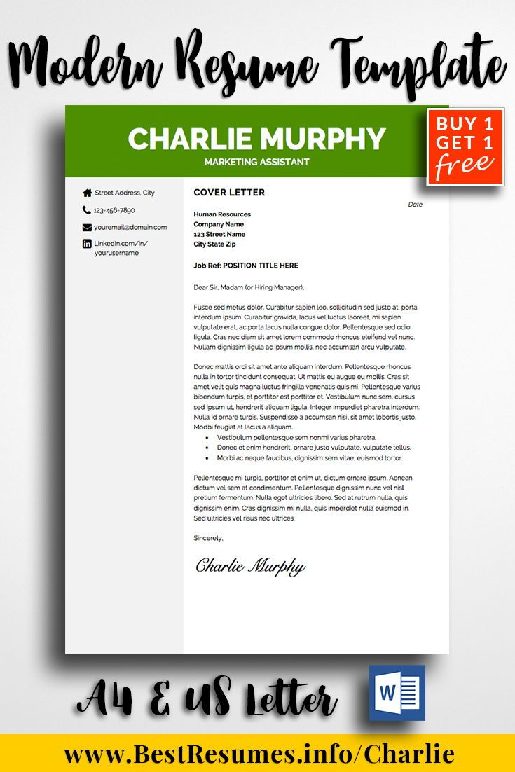 How To Do Resume Cover Letter Resume Template Charlie Murphy  Pinterest