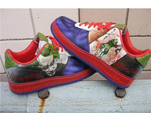 Harley Quinn · Custom Joker Shoes. (Lows) WANT THEM! Air Force One fd759183e