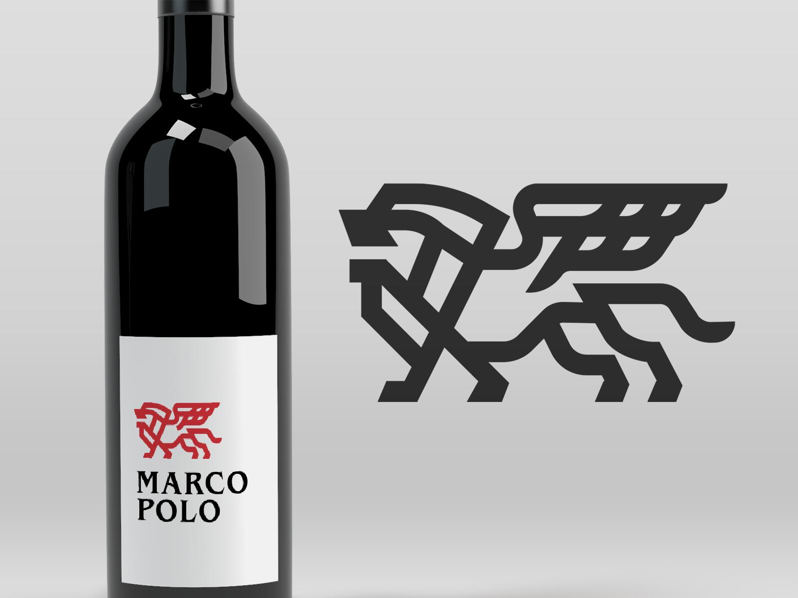 Marco Polo Lion Marco Polo Elephant Logo Design Branding Design