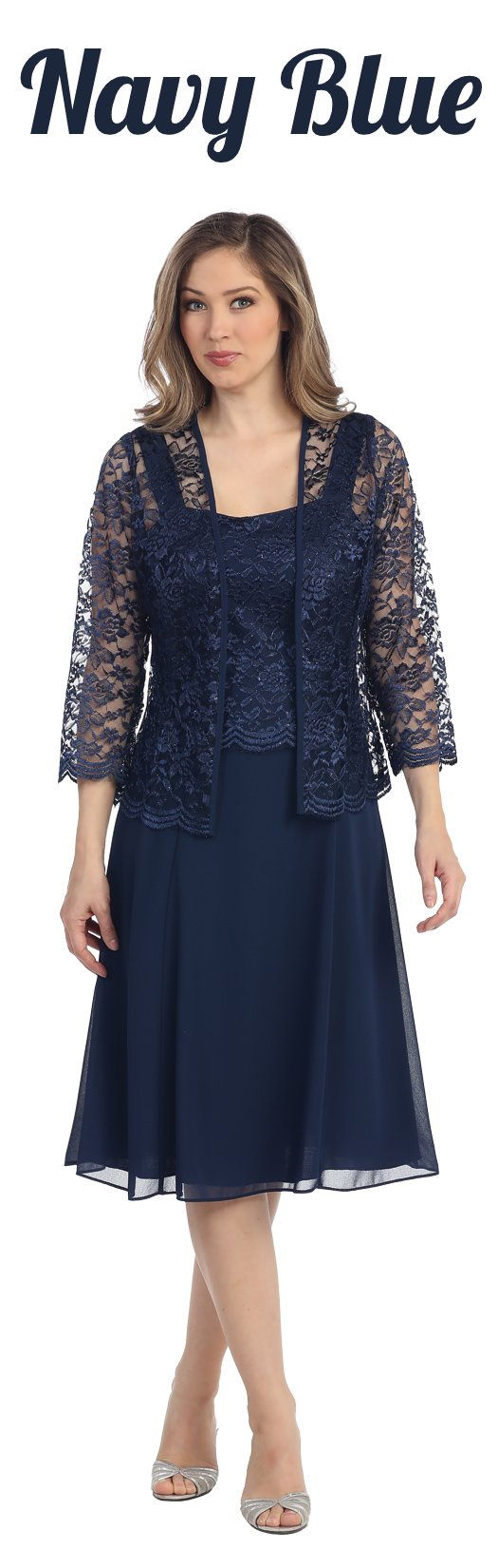 Short gold mother of groom dress chiffon knee length lace jacket