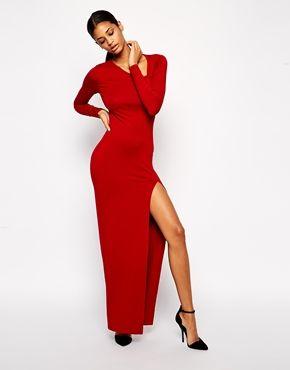 Image 4 ofASOS Asymmetric Neck Sexy Maxi Dress