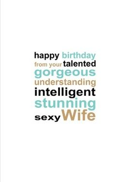 A card for a wife to send to her husband this is a real card not a card for a wife to send to her husband this is a real card hubby birthdayonline m4hsunfo