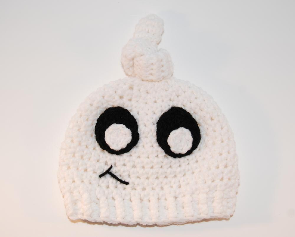 BOO! Ghost Beanie | Crochet | Pinterest | Tejidos and Gorras