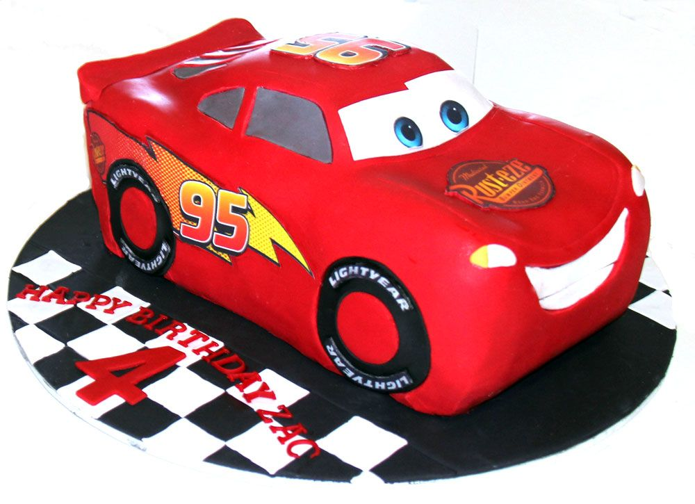 Lightening McQueen Cake Like us on  www.facebook.com/melianndesigns