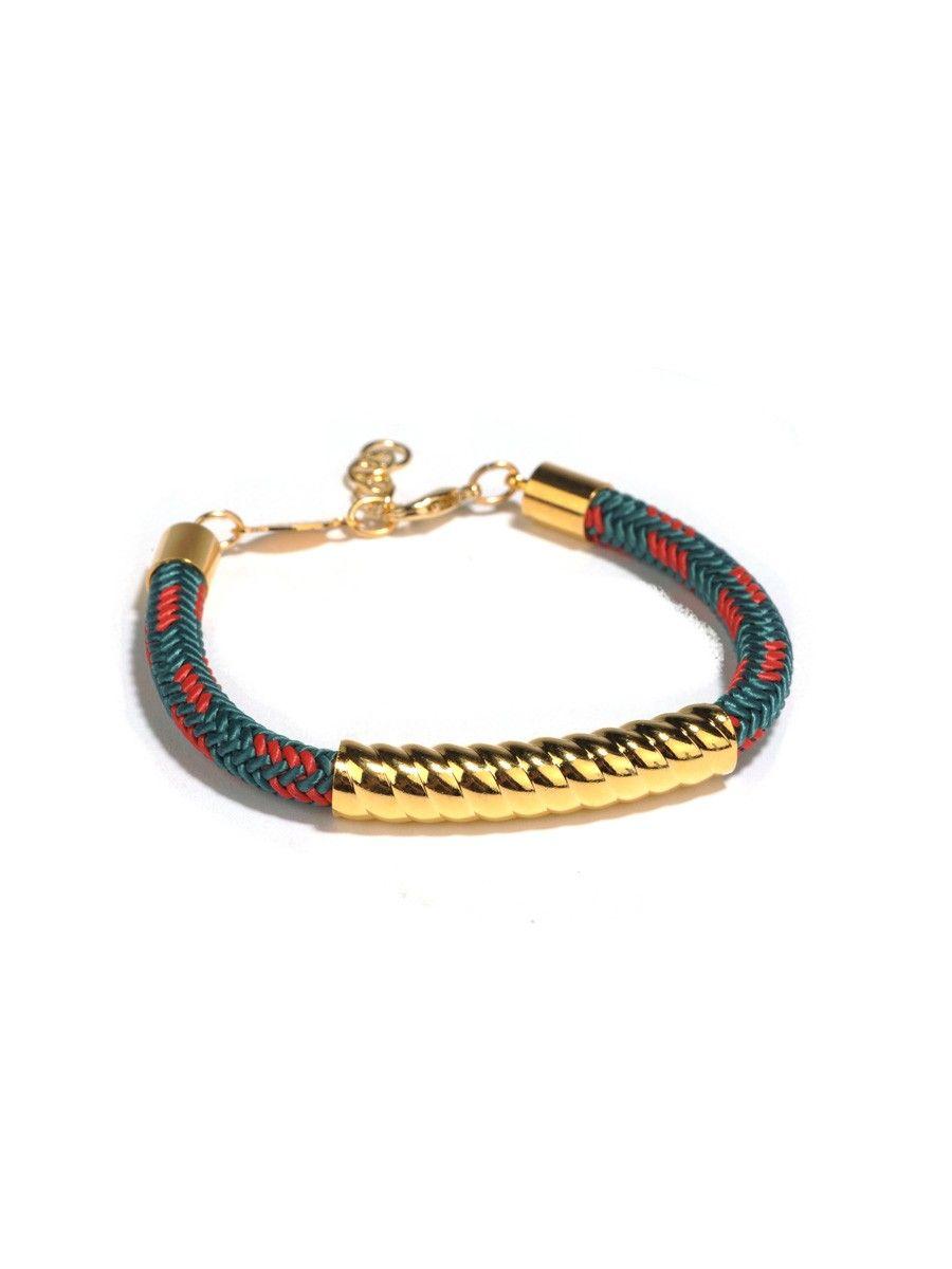 Style Tryst : Twist Tube Cord Bracelet $28