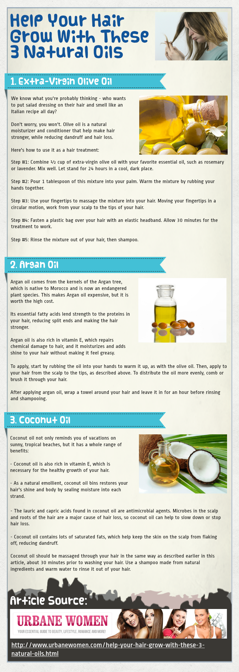 Help Your Hair Grow With These 3 Natural Oils [Infographic]