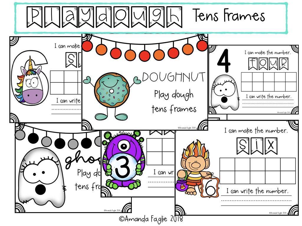 Playdough Tens Frames Sample Pack