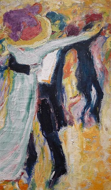 "Emil Nolde: ""The Dance #2"" (1911). From the exhibition ""Emil Nolde. Jakten på det autentiske"" at the National Gallery in Oslo, Norway. October 10, 2012."