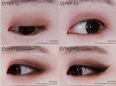 Korean Makeup Info Rosewater Or Cucumbers Are Fantastic To Erase Dark Circles Under The Eye Brown Eye Makeup Tutorial Eye Makeup Tutorial Kpop Makeup Tutorial