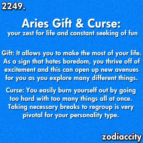 Aries: Gift & Curse | Aries - The Ram | Aries, Aries quotes