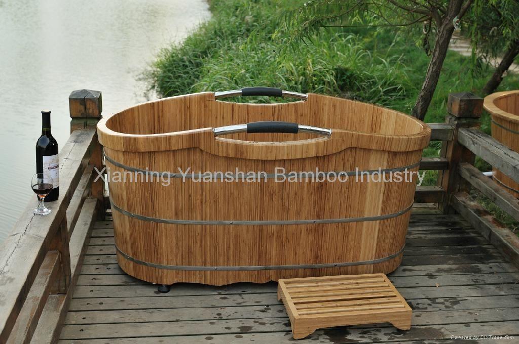 bamboo portable bath tub | Live/Work Space Ideas | Pinterest ...