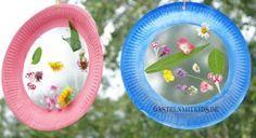 Basteln mit Naturmaterialien Pinselzauber - Basteln mit Kindern #herbstfensterdekokinder