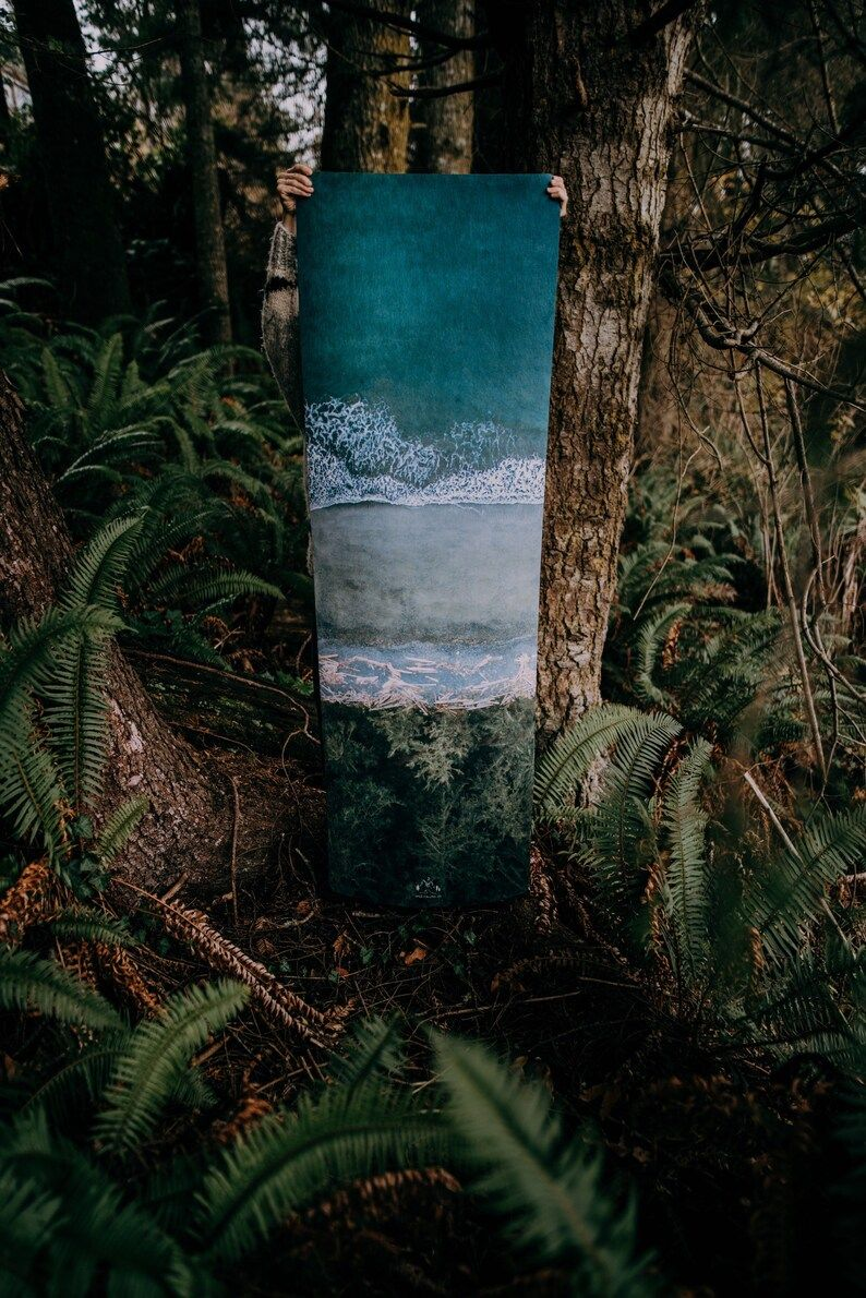West Coast Yoga Mat FRENCH BEACH Micro Suede Ecofriendly | Etsy