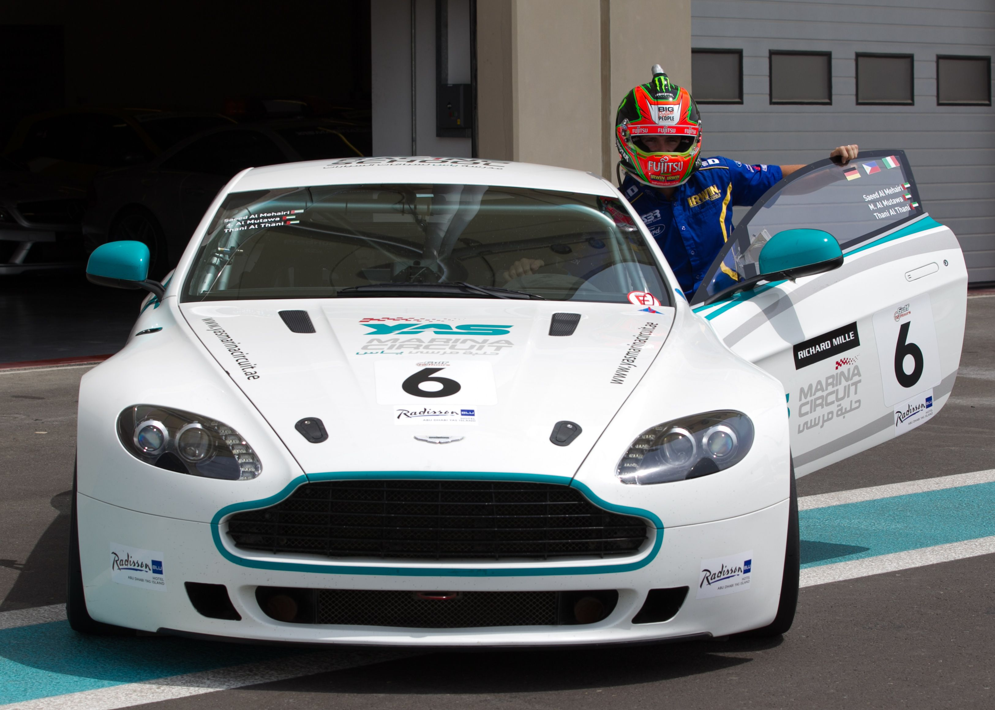 the aston martin gt4 customised for circuit racing. drive this on