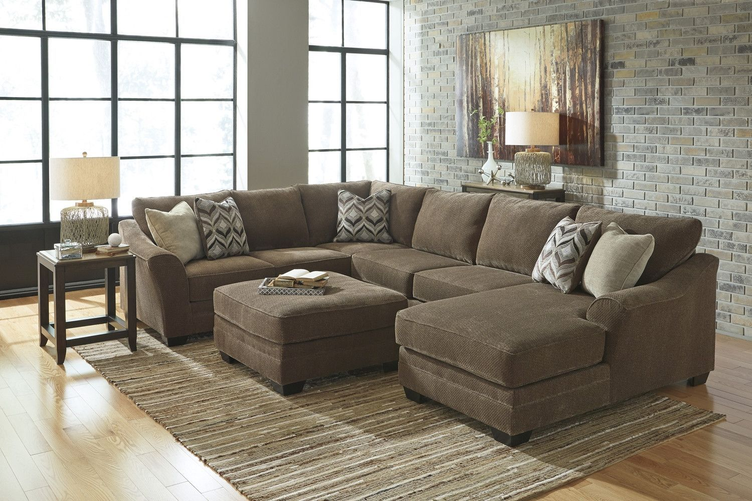 Ashley Justyna Sectional with Chaise | Home: Living Room | Pinterest ...