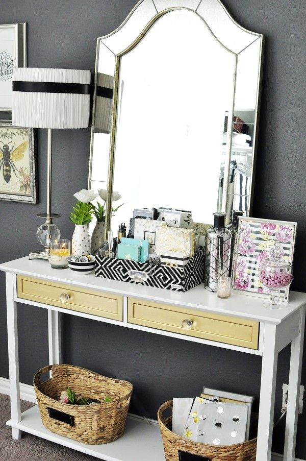 Marvelous This Black, White U0026 Gold Home Office Is Filled With DIY Projects And  Inspiration That