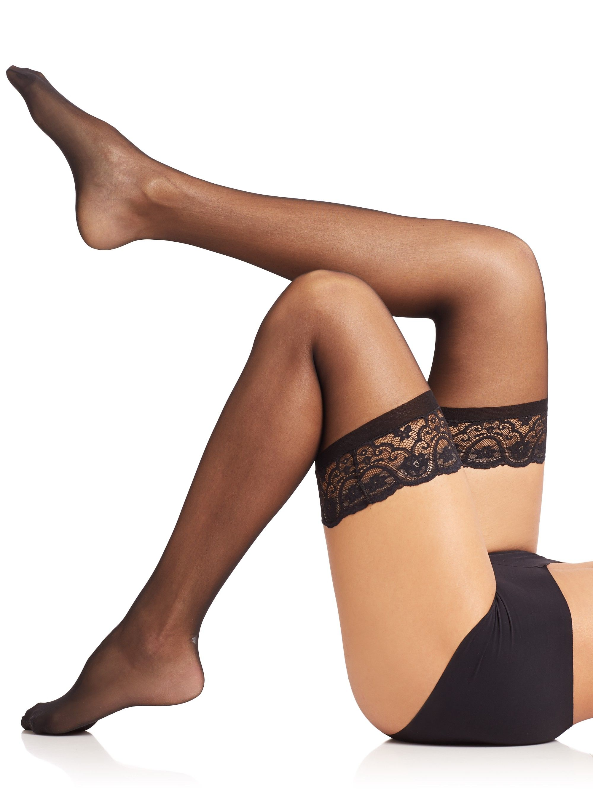6efeed06ce984 Commando Lace All Night Sexy Thigh Highs - Black Medium/Large in ...
