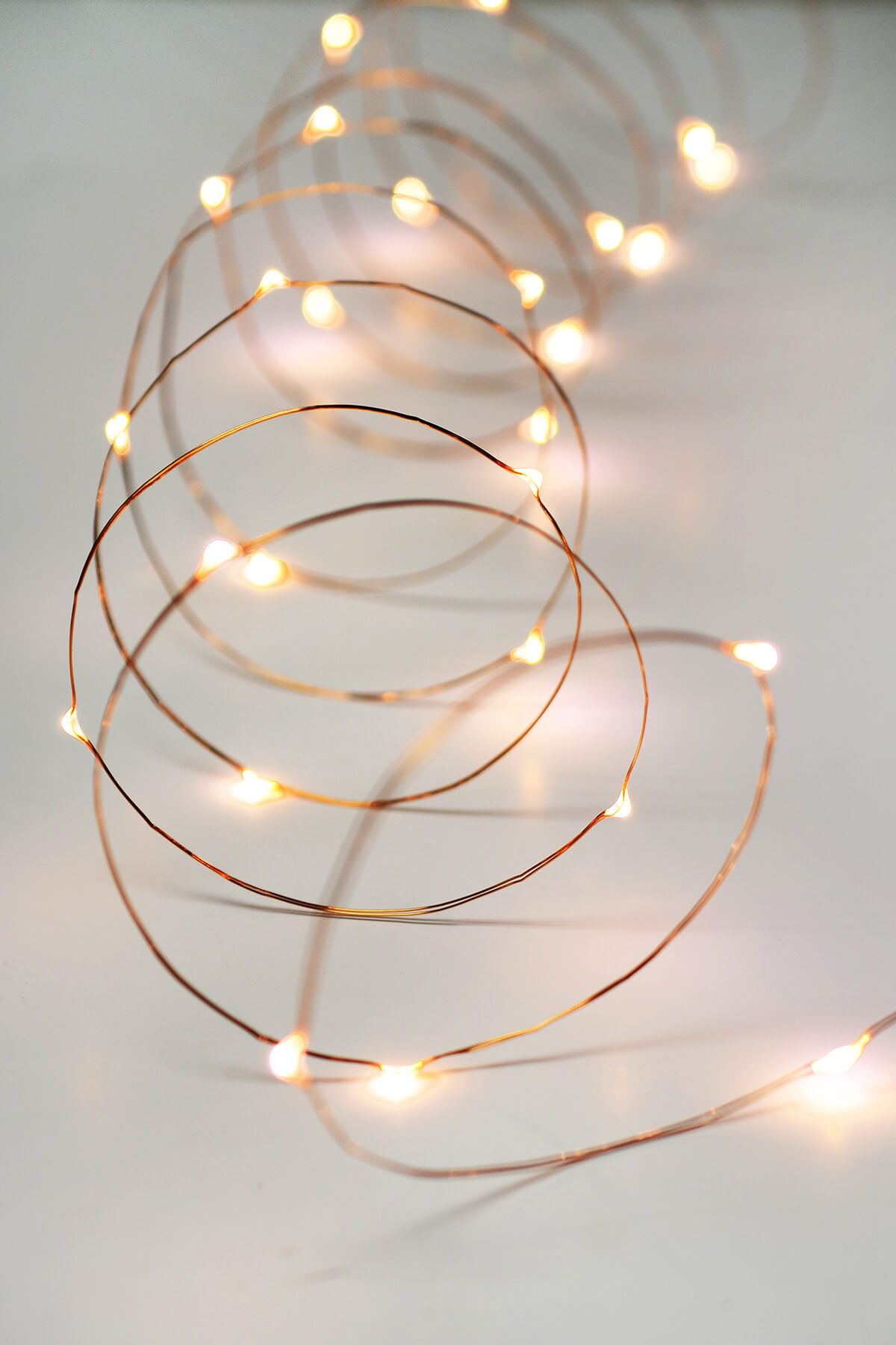 Copper Wire Fairy Lights 10 Ft Outdoor Battery Operated Warm White Rose Gold Fairy Lights Rose Gold Room Decor Rose Gold Wallpaper