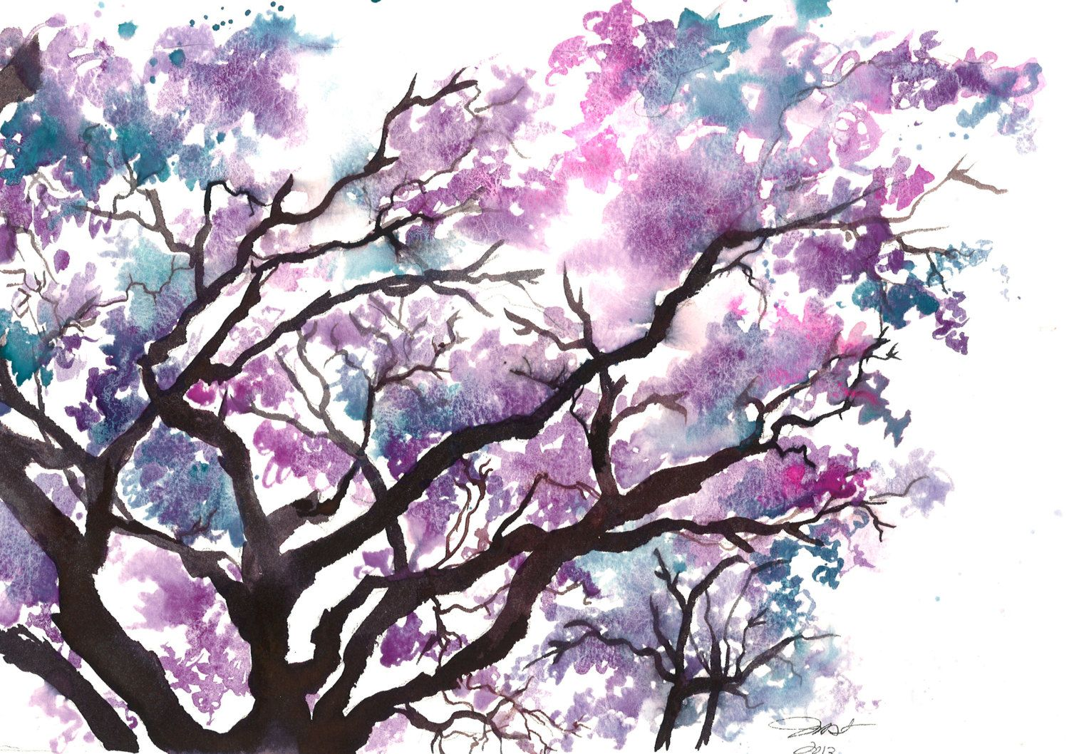 Print from original watercolor study of a jacaranda tree by jessica print from original watercolor study of a jacaranda tree by jessica durrant via etsy gumiabroncs Gallery