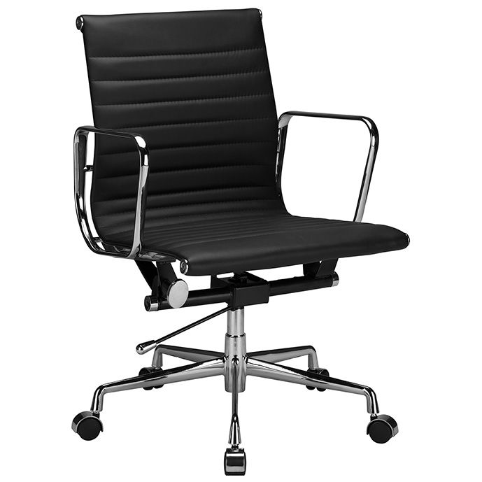 Lusso Modern Italian Leather Office Chair Black 497 00 With Images Office Chair Design Modern Office Chair Leather Office Chair