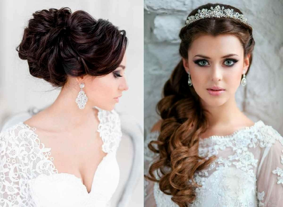 women. bridal hairstyles for long hair with veil: indian