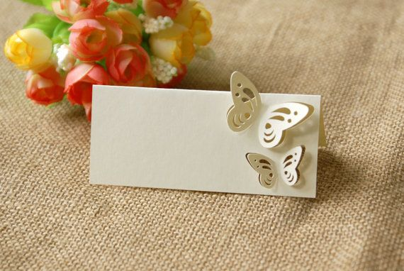 Butterfly Wedding Place cards by MrsMyLaurie