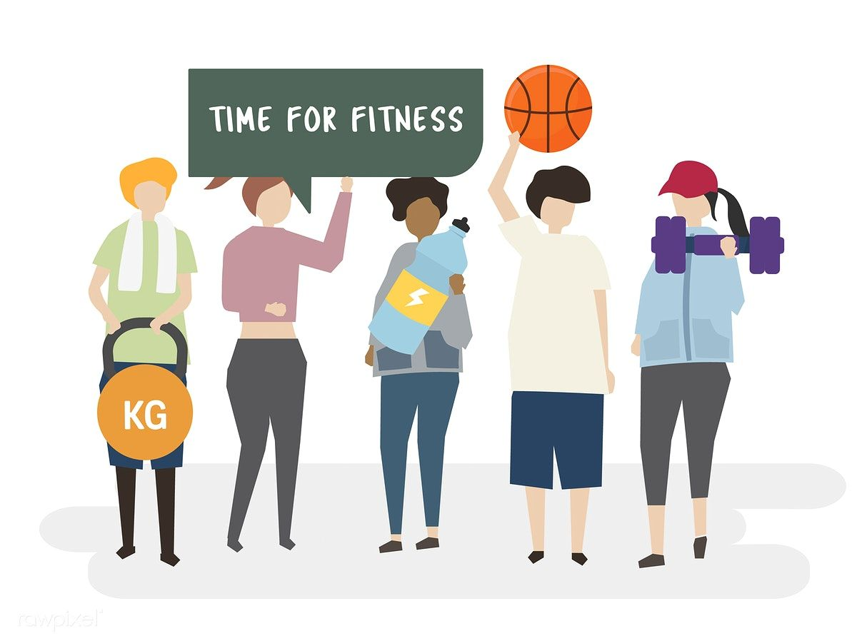 Download Premium Vector Of Time For Fitness Illustration 403084 Gym Icon Fitness Illustration