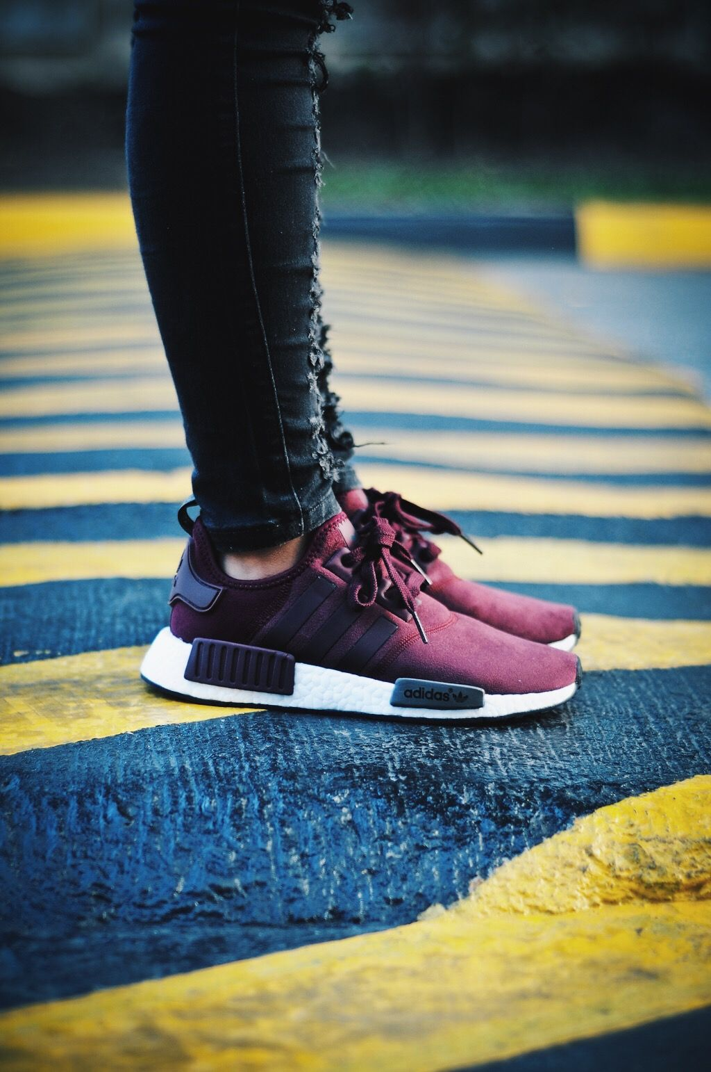 890ab6dfd adidas NMD Womens Burgundy  A Closer Look