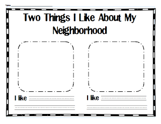 Franklin\'s neighborhood worksheet | About Me! | Pinterest ...