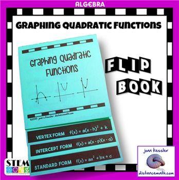 Algebra Graphing Quadratic Functions Flip Book Foldable Plus Hw