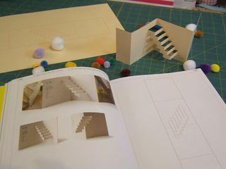Popup staircase template pattern | Card Making ideas and tutorials ...