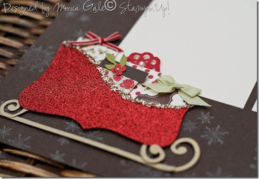 Stampin Up: Top Note die. Love how the sleigh is made from the die!