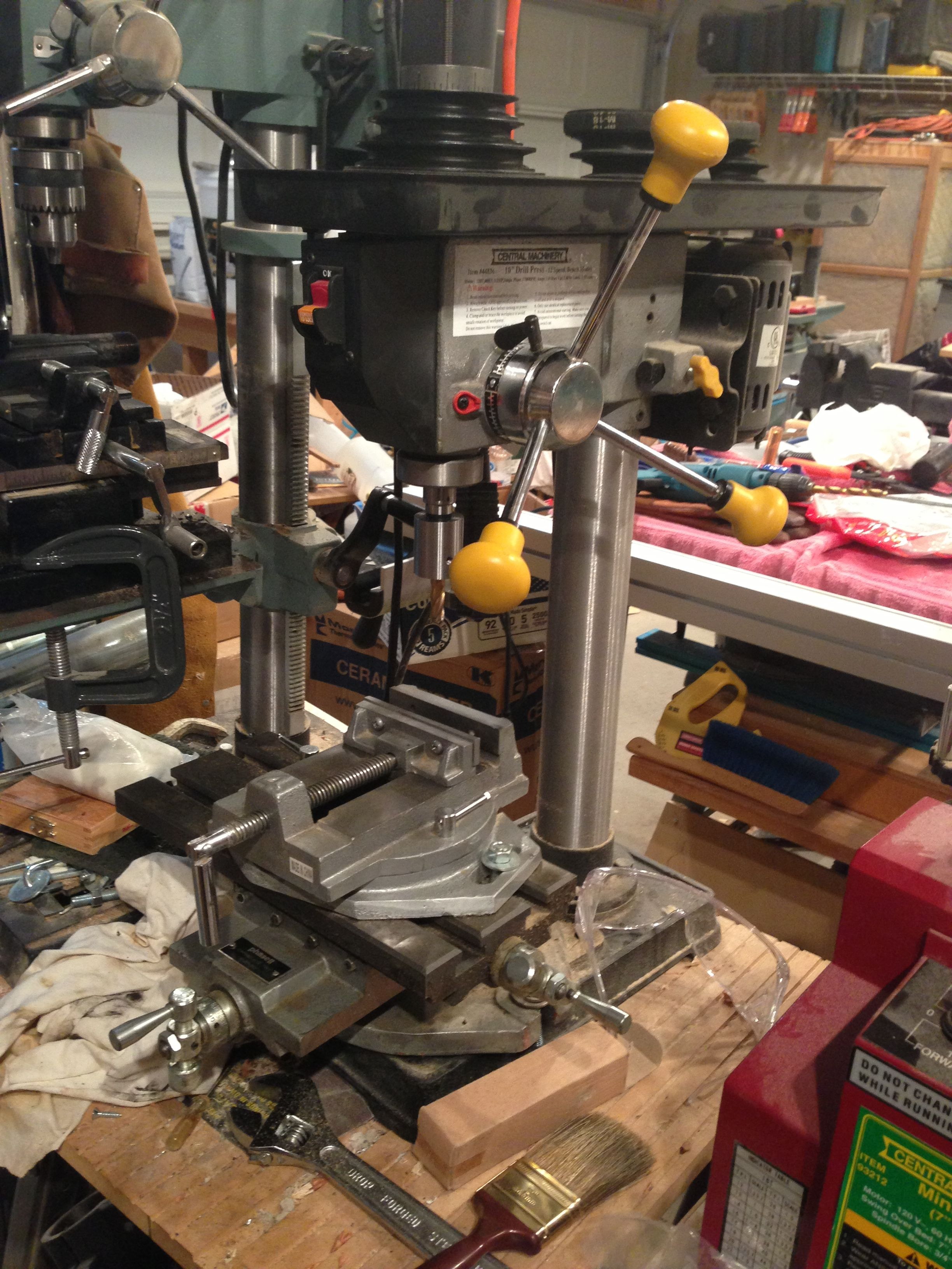 "Construction of a Vertical Milling Machine from a 12"" Drill Press"