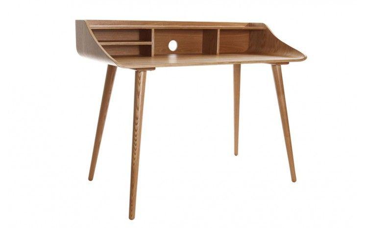 Bureau en bois design scandinave frêne gobi all wood frene