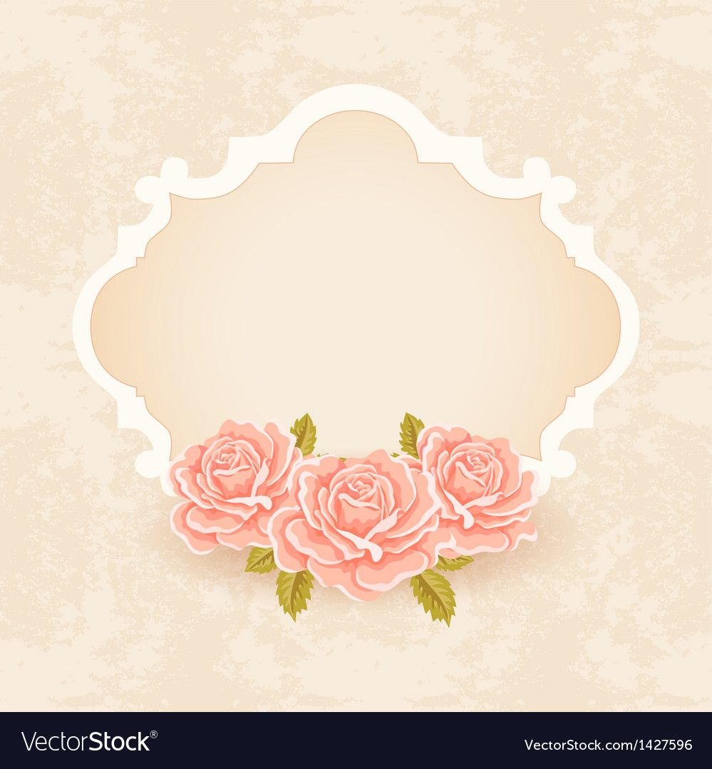 Vintage Floral Background Greeting Card Template Download A Free