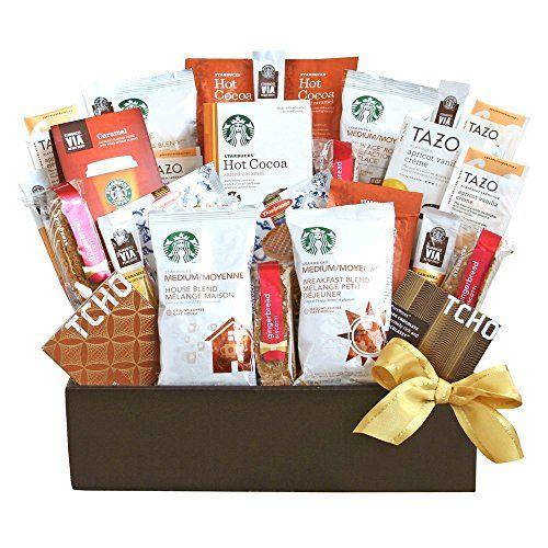 Starbucks Coffee Cocoa Tazo Tea and VIA Caramel Gift Box >>> Want additional info? Click on the image.