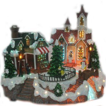 animated christmas village httpshopcrackerbarrelcomanimated christmas villagedpb009hsonju - Animated Christmas Village